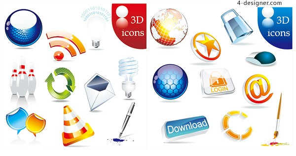 Strong texture icon vector material