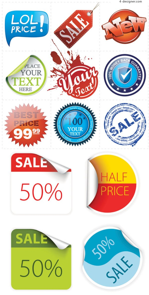 Tag labeling vector material