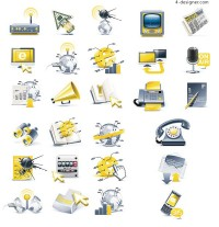 Technology dimensional icon vector material