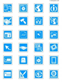 Technology vector icons vector material