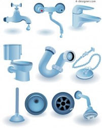 Toilets icon vector material