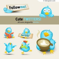 Twitter icon vector material