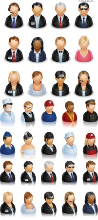 User Roles icon vector material