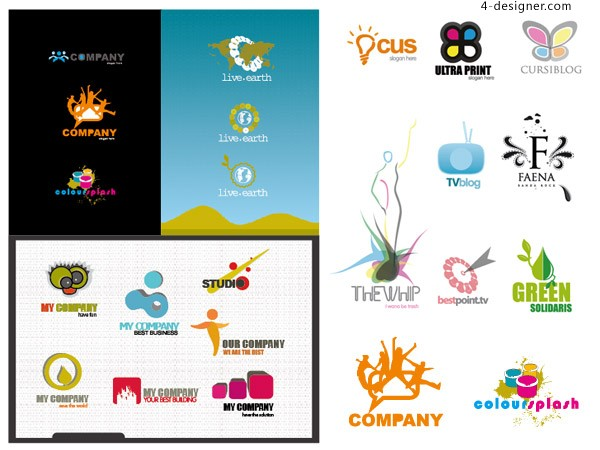 Variety logo template material