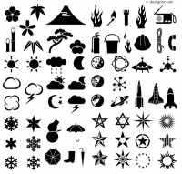 Various silhouette element vector material