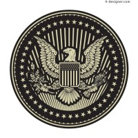 Vector Eagle badge material