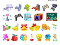 Vector children s toys 4 vector material