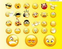 Vector emoticons material