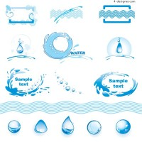 Water theme logo graphics vector material