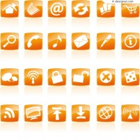 Web icon vector material