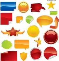 Web2 icon vector material