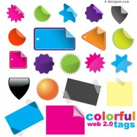 Web20 tag vector material
