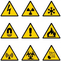 Site warning signs vector material