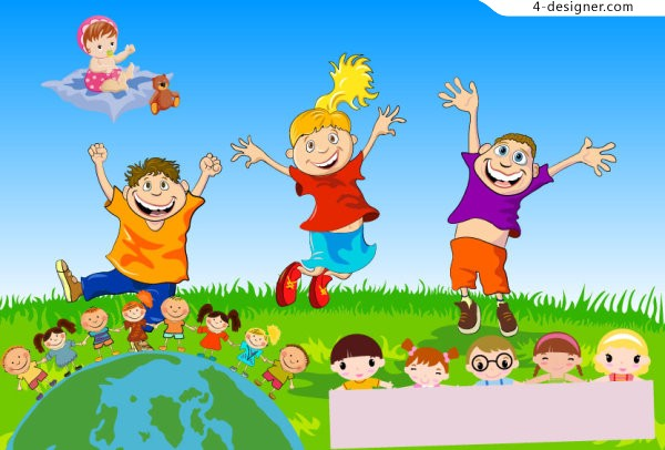 Children s theme vector