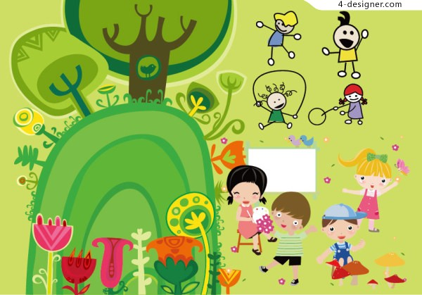 Cute illustrator of children