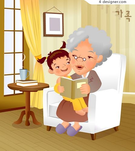 Cartoon family illustration 7