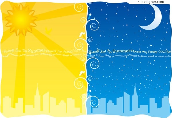 Day and night vector material