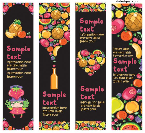 Colorful fruit banner