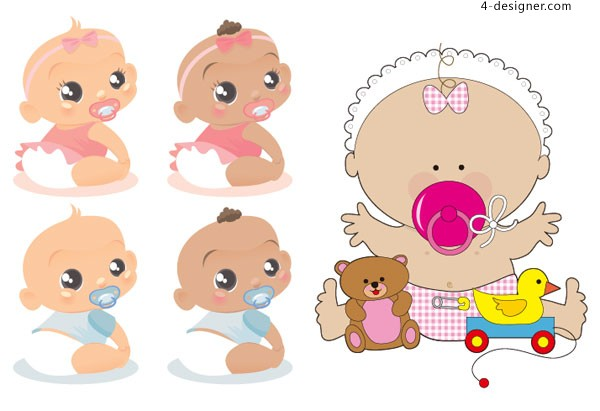 Foreign baby vector