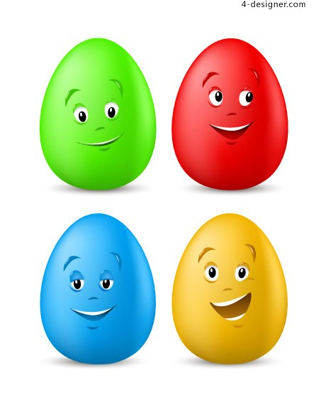 Cartoon color egg