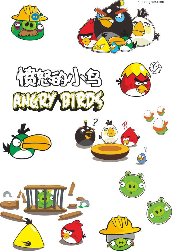 Angry Birds vector material