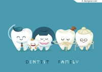 Animation dental Family vector material