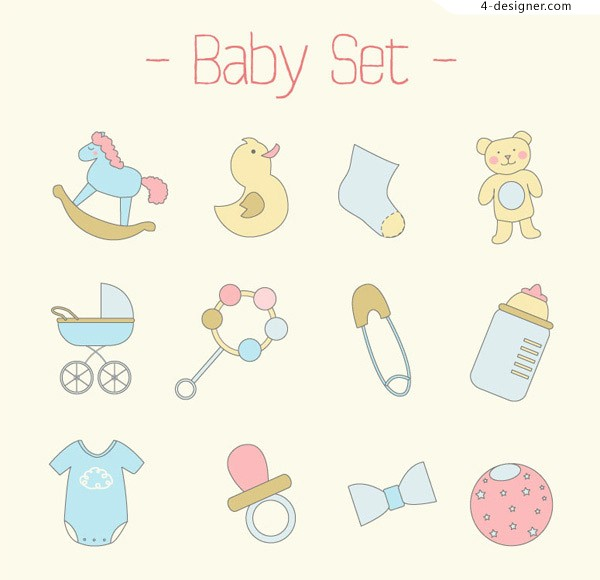 Baby cartoon icon vector material