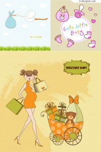 Background cartoon illustrator of children vector material