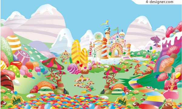 Candy World vector material
