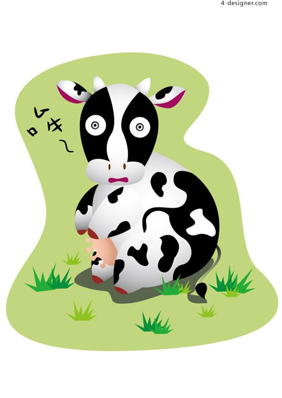 Cartoon Cow vector material