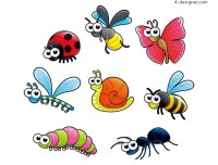 Cartoon Insects vector material