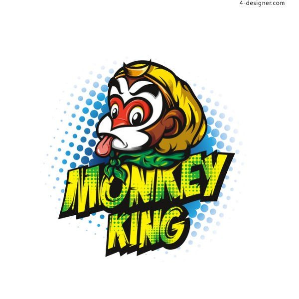 Cartoon Monkey vector material