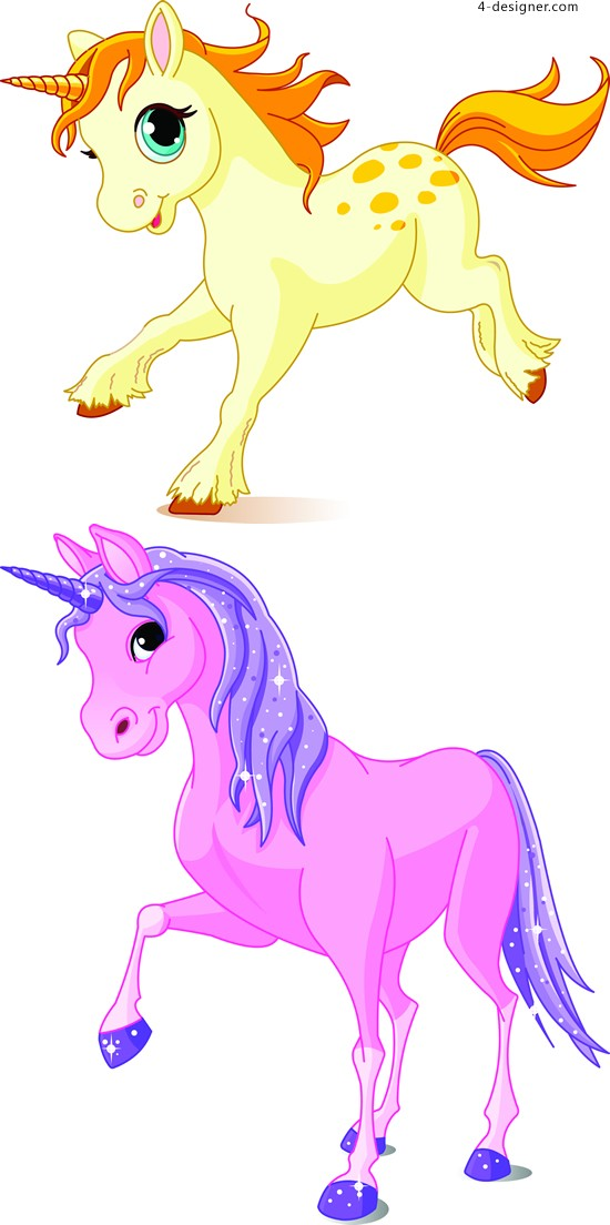 Cartoon Unicorn vector material