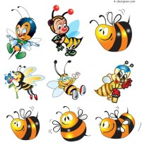 Cartoon bee vector material