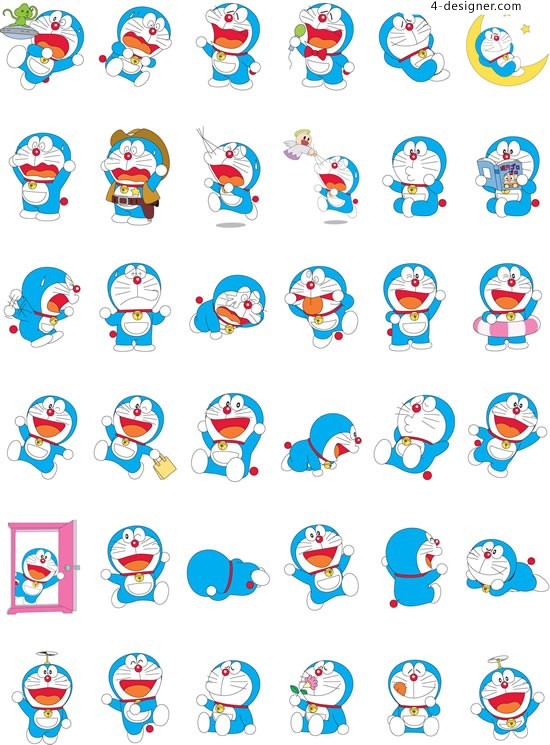 Cartoon character Doraemon vector material