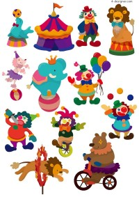 Cartoon circus vector material