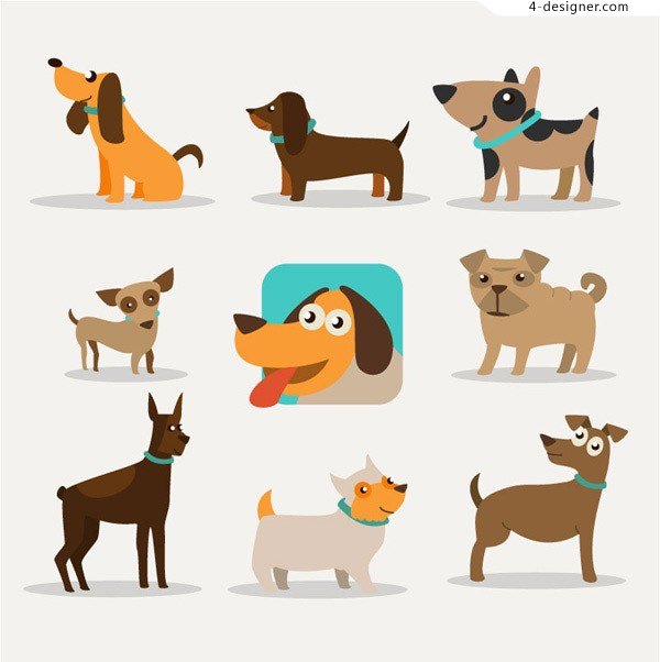 Cartoon dog vector material