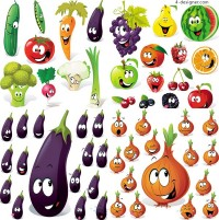 Cartoon fruit expression vector material