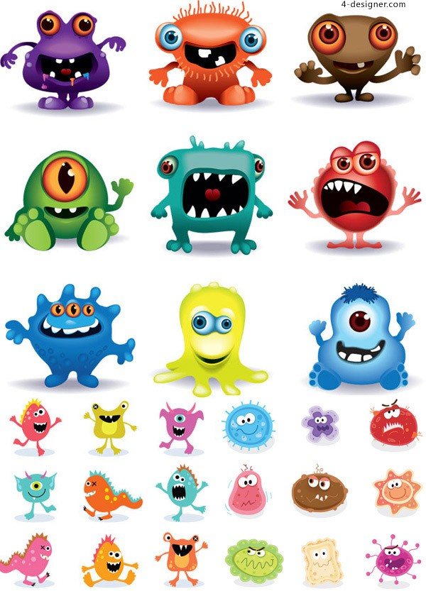 Cartoon grimace picture vector material