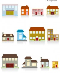 Cartoon house vector material