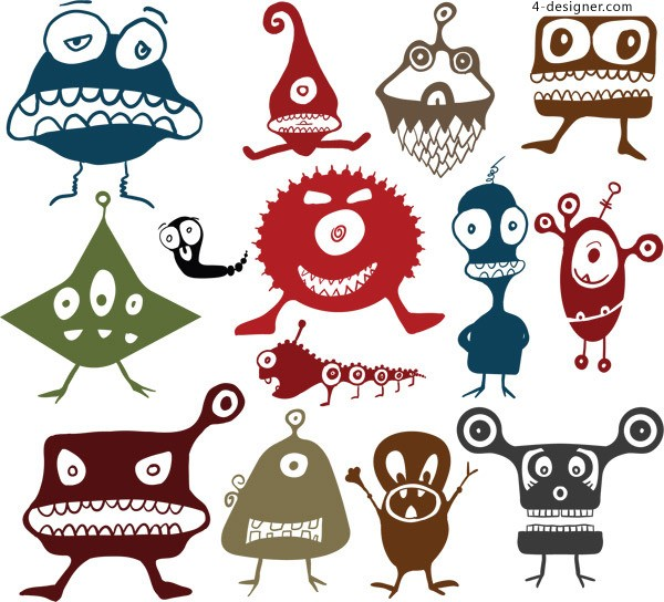 Cartoon monster vector material
