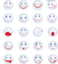 Cartoon smiley face vector material