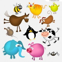 Cartoon vector material