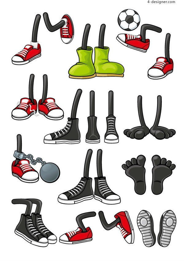 Character shoes vector material