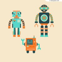 Color robot vector material
