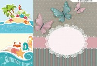 Cute Pop up Card vector material