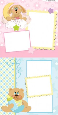 Cute cartoon stationery vector material