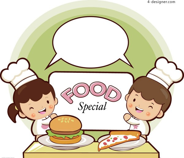 Cute chef vector material