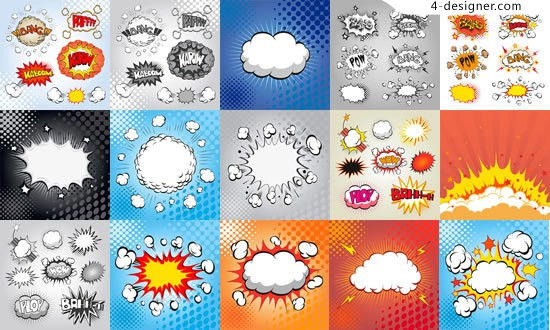 Explosions Bubble vector material