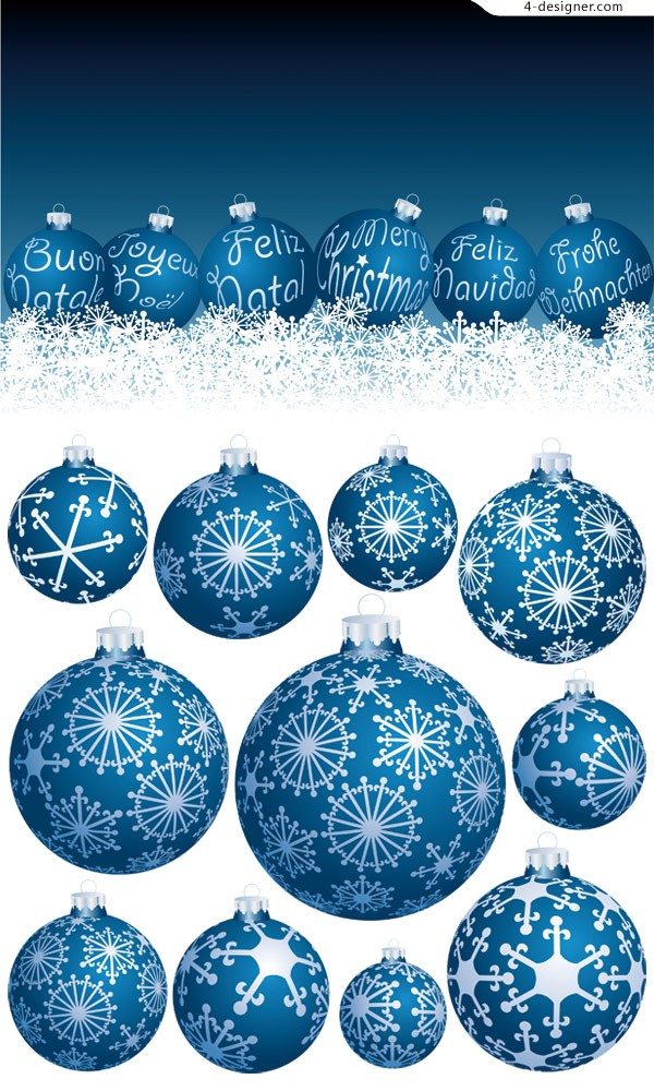 Exquisite Christmas ball vector material